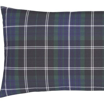 Brushed Tartan Check Standard Pillowcase, Set of Two