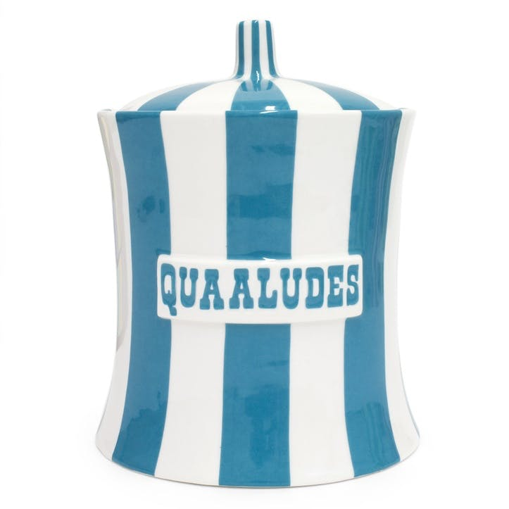 Quaaludes Canister, Teal and White