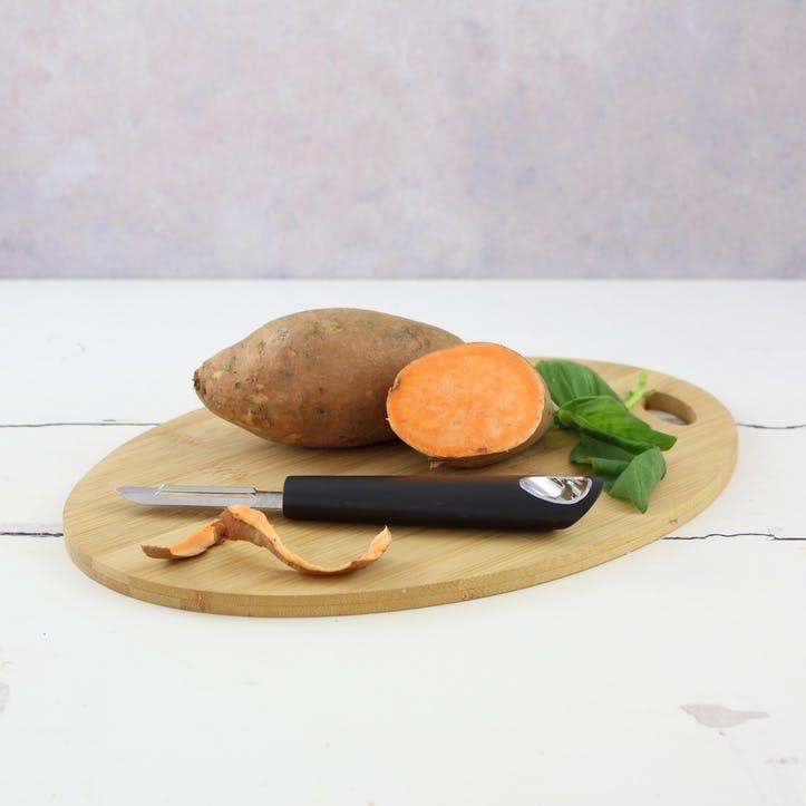 Vegetable Peeler, Black Satin