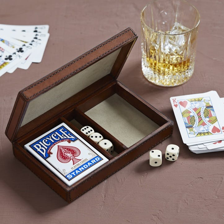 Leather Playing Cards & Dice