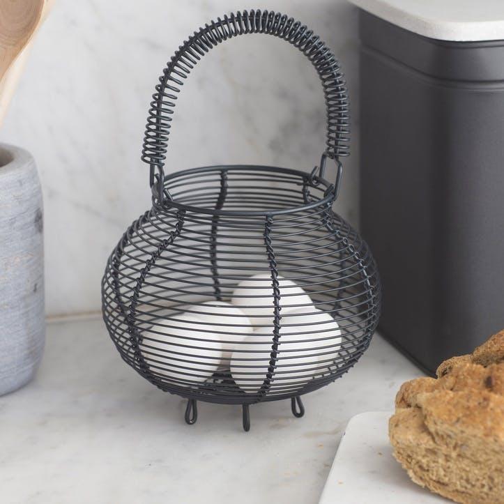 Brompton Egg Basket, Small, Carbon - Steel