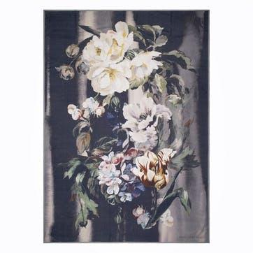 Delft Flower Noir Throw