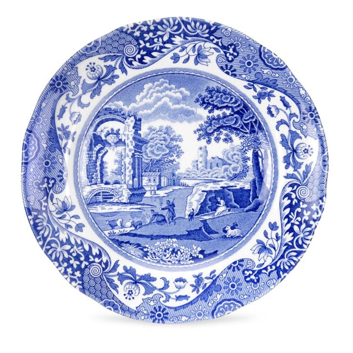 Blue Italian Plate, Set of 4 - 23cm