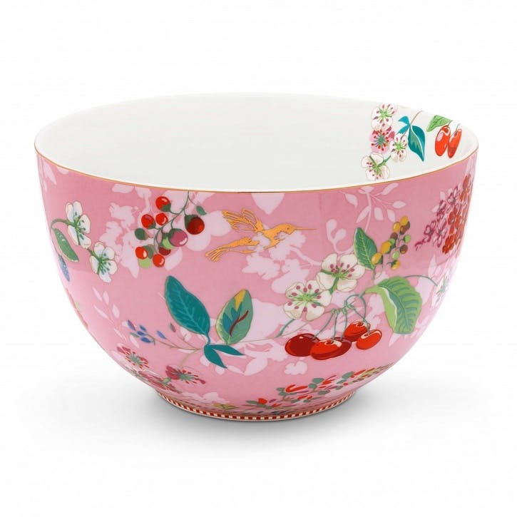PiP Floral 2.0 Hummingbirds Bowl, Pink