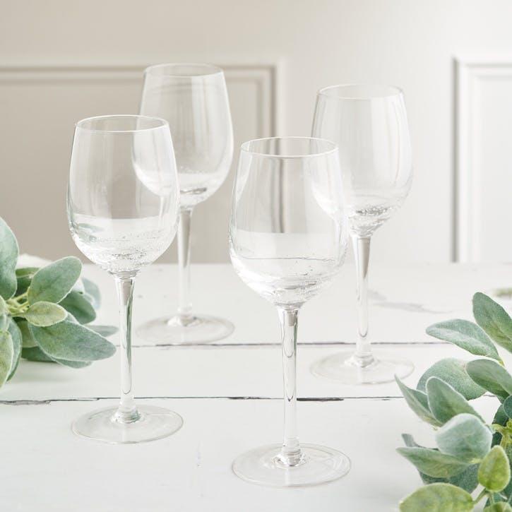 Jewel Bubble White Wine Glass, Set of 4