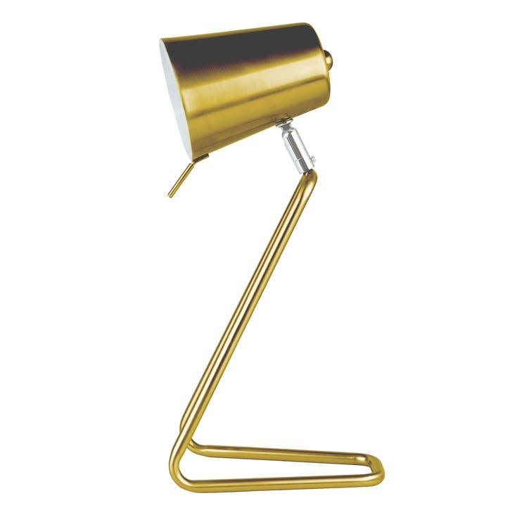 'Z' Table Lamp, Brass
