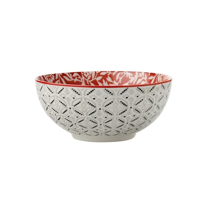 Boho Cereal Bowl, Red