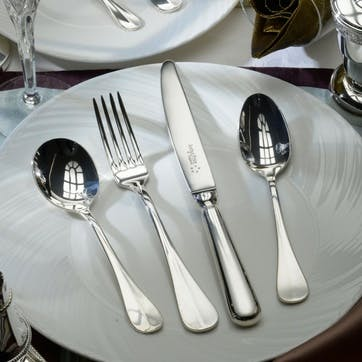 Baguette Sovereign Silver Plated Cutlery Canteen Set - 44 Piece