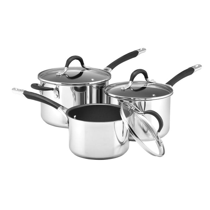 Momentum Stainless Steel 3 Piece Saucepan Set