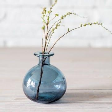 Round Bud Vase, Blue