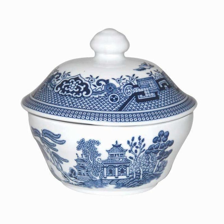 Blue Willow Covered Sugar Bowl