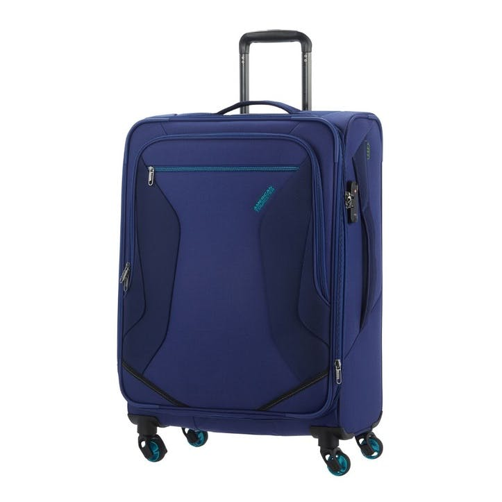 Eco Wanderer Spinner Suitcase, 67cm, Navy