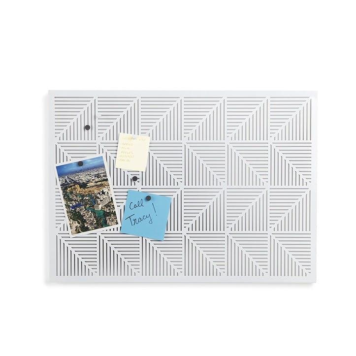 Trigon Bulletin Board, White
