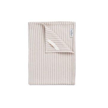Harbour Stripe Tea Towel, Fawn & Ecru