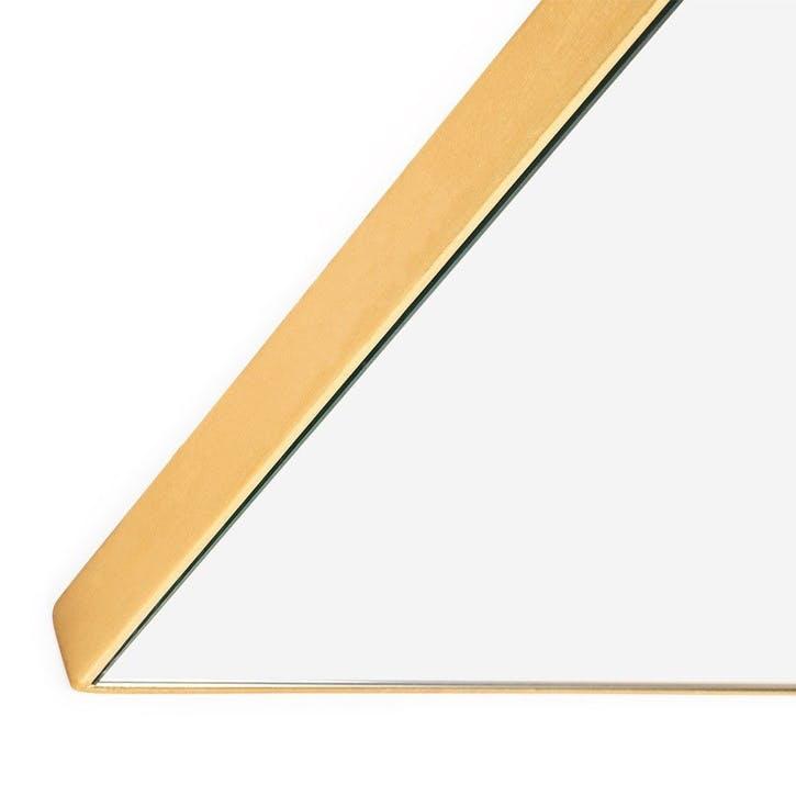 Fine Edge Rectangular Mirror, 100cm, Gold