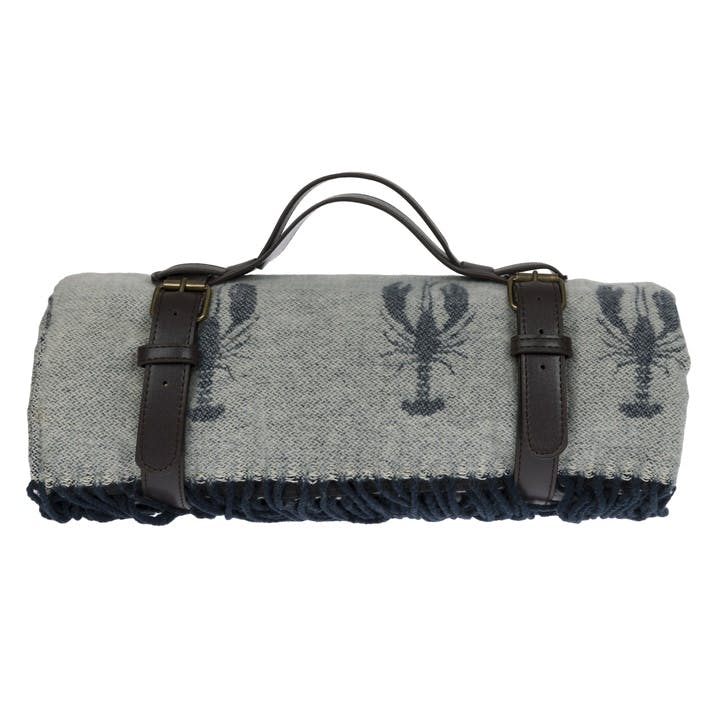 'Lobster' Knitted Picnic Blanket