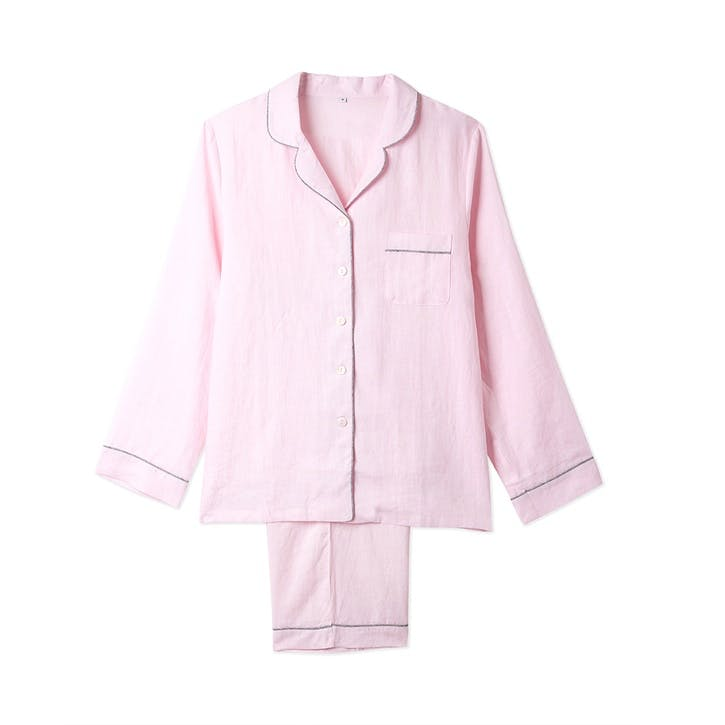 Blush Linen Pyjama Set, Small