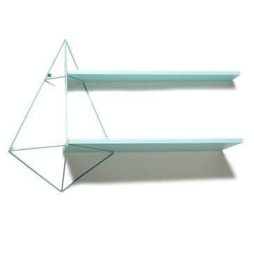 Butterfly Shelf, Double Centre Shelf, Blue