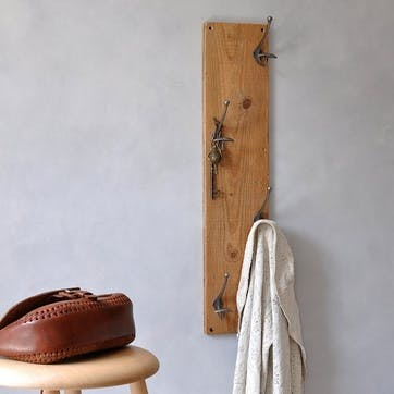 Reclaimed Vertical Coat Hook - 80 x 18cm; Natural