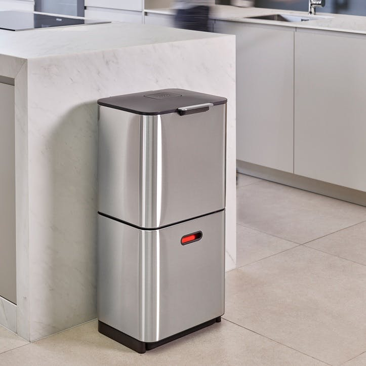 Totem Max 60 Recycling Bin, Stainless Steel