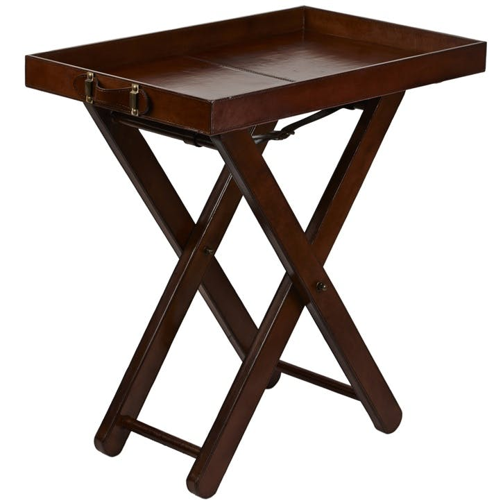 Leather Butler Tray Table