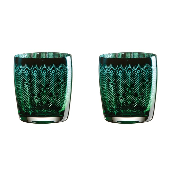 Peacock Tumblers, Set of 2