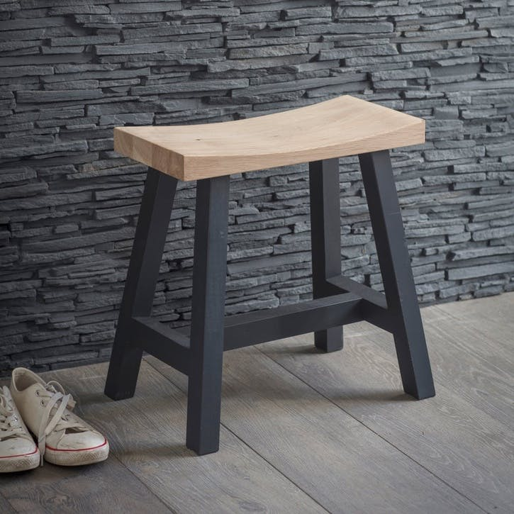 Clockhouse Stool with Carbon Legs