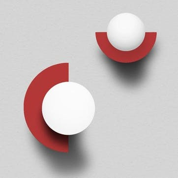 C, Plug in Wall Lamp, H28 x W22 x D20cm, Red