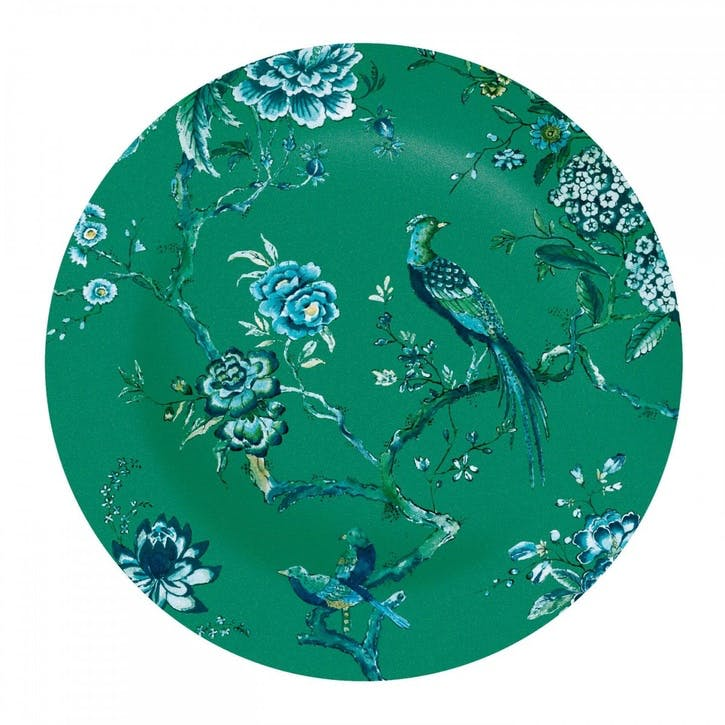 Chinoiserie Dinner Plate, Green