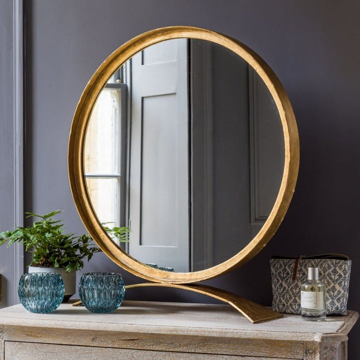 Zandar Iron Round Table Mirror
