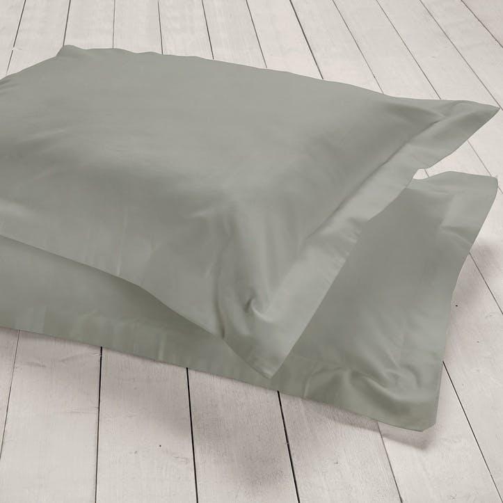 Pure Oxford Pillowcase, Set of 2, Slate