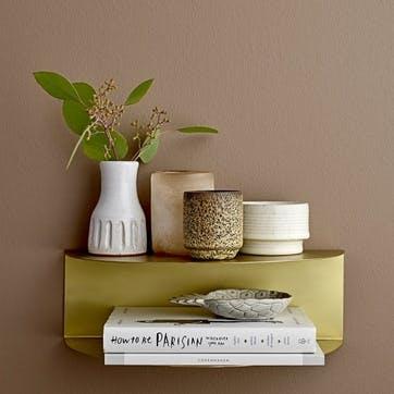 Terracotta White Glazed Bud Vase, Tall