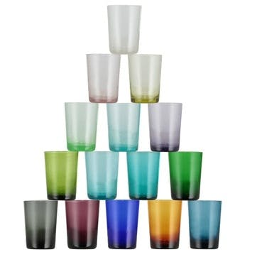 Almond Shell Glass Tumblers, Set of 6