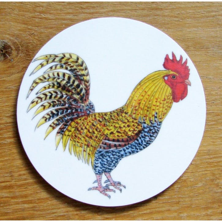 Cockerel Coaster - 10cm