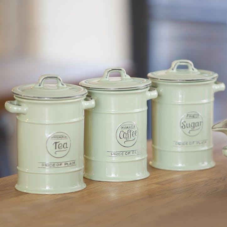 Pride of Place Coffee Jar, Old Green