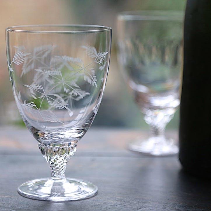 Ferns Crystal Bistro Glasses, Set Of 6