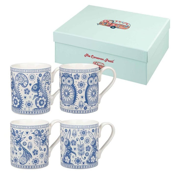 Penzance Mugs, Set of 4