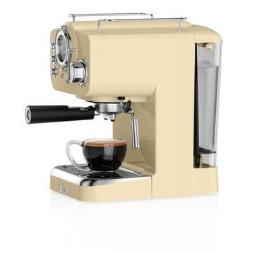 Retro Espresso Machine, Cream