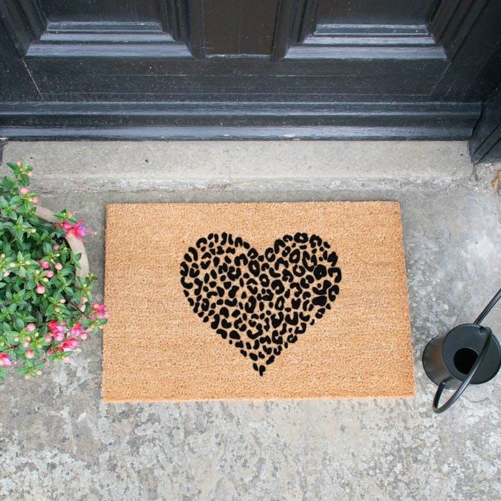 Leopard Heart Doormat