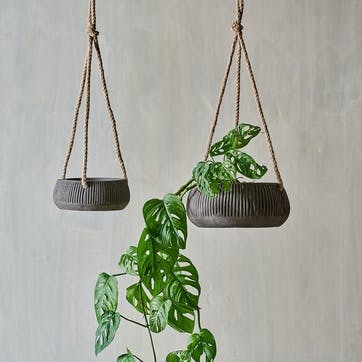 Wampu, Hanging Planter, Large, Brown