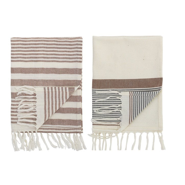Kichen Towel, Set of 2, Multi-Stripe