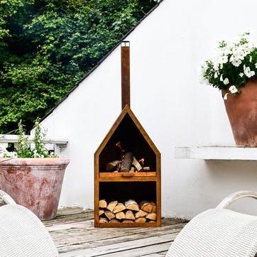 Henley, Outdoor Fireplace, Rust