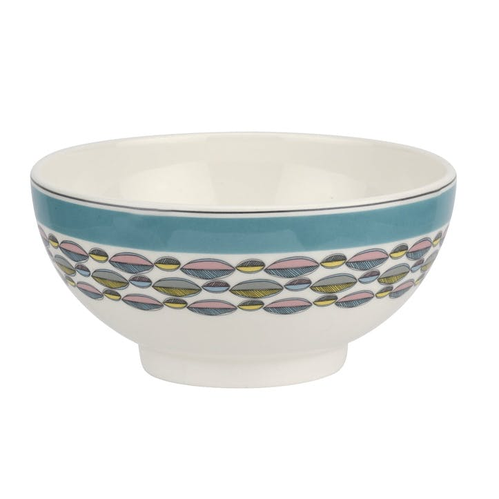 "Westerly Cereal Bowl, Set of Four - 6""; Turquoise Band"