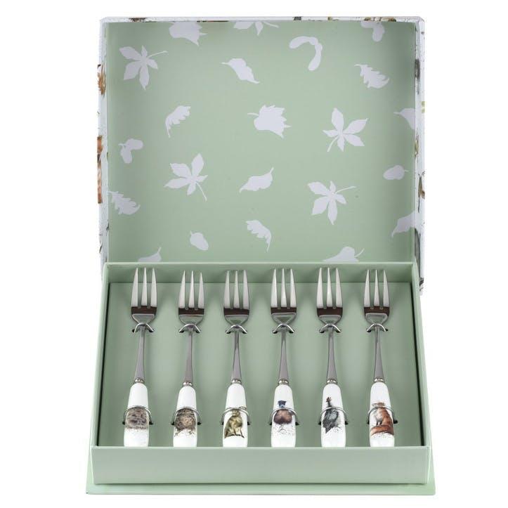 Wrendale Pastry Forks, Set of 6