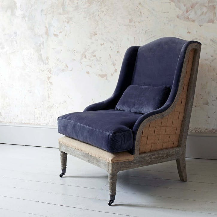 Duke Velvet Armchair, Grey