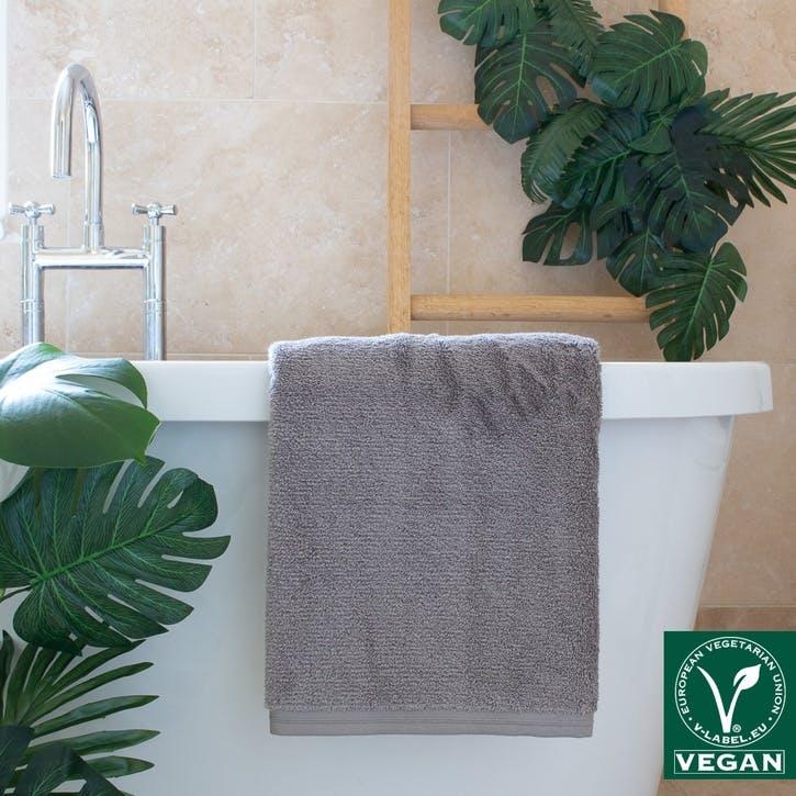 Vegan Life Bath Sheet, Pebblestone