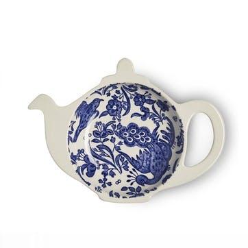 Regal Peacock Mini Teapot Tray, Blue