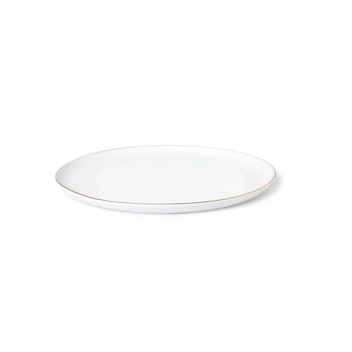 Seven Medium Plate, White & Gold