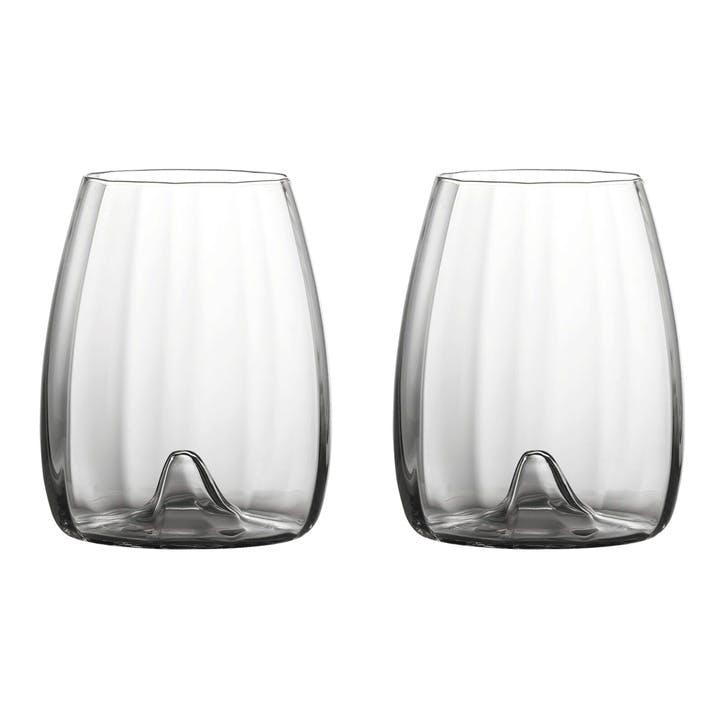 Elegance Optic Stemless Wine Glass Set of 2