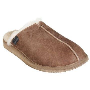 Hugo Mens Slippers, Antique Cognac, Size 9